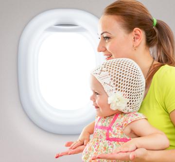 At flyve med småbørn eller baby