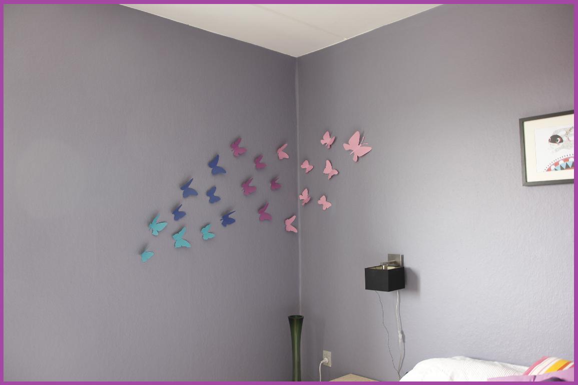 Min faerdige sommerfuglevæg