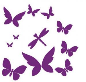 DiMaria sommerfugle wallstickers Lilla